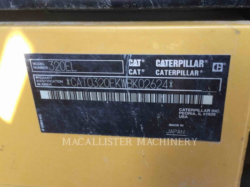 CATERPILLAR PELLES SUR CHAINES 320EL equipment  photo 5