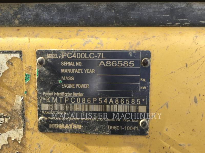 KOMATSU TRACK EXCAVATORS PC400LC-7L equipment  photo 6
