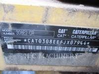 CATERPILLAR ESCAVATORI CINGOLATI 308E2 CRCB equipment  photo 8