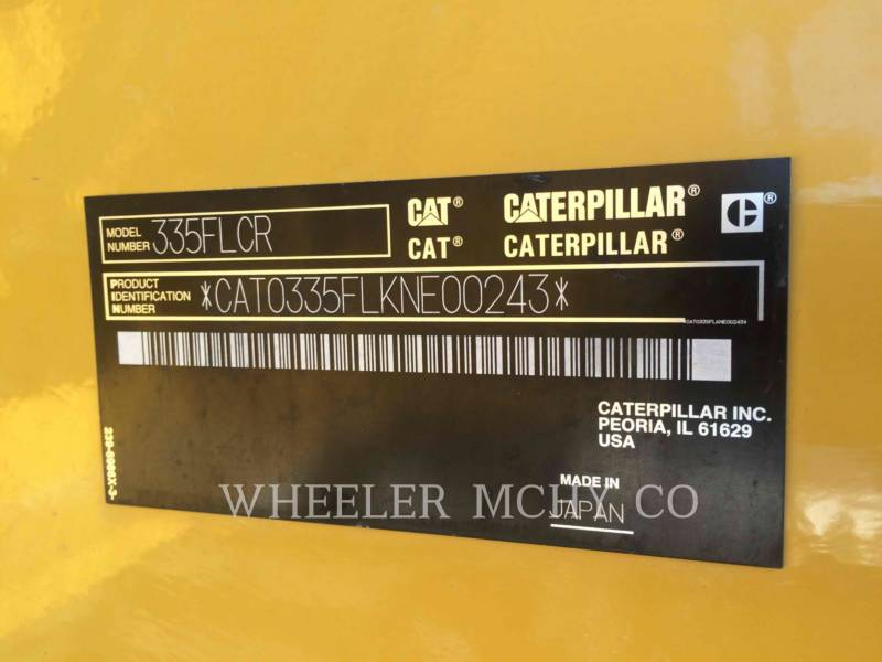 CATERPILLAR TRACK EXCAVATORS 335F CR CF equipment  photo 7
