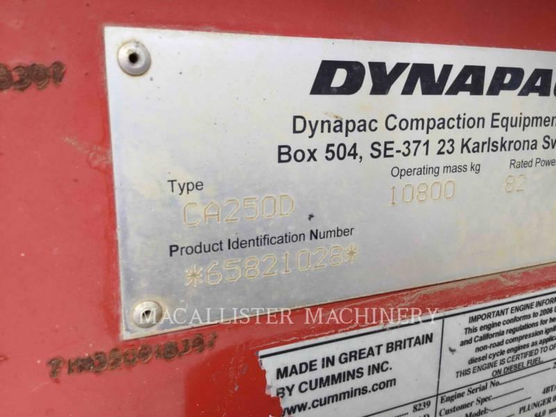 DYNAPAC EINZELVIBRATIONSWALZE, GLATTBANDAGE CA250D equipment  photo 4