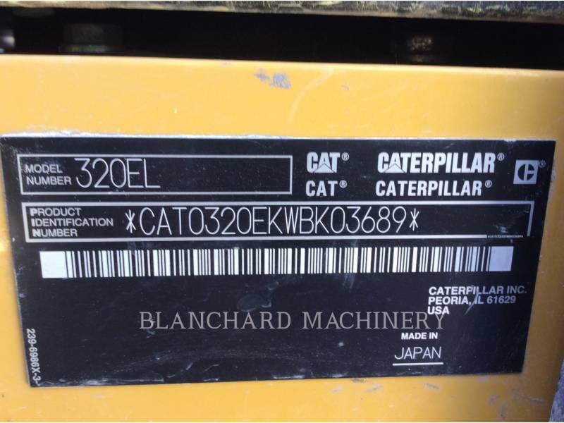 CATERPILLAR EXCAVADORAS DE CADENAS 320EL equipment  photo 9