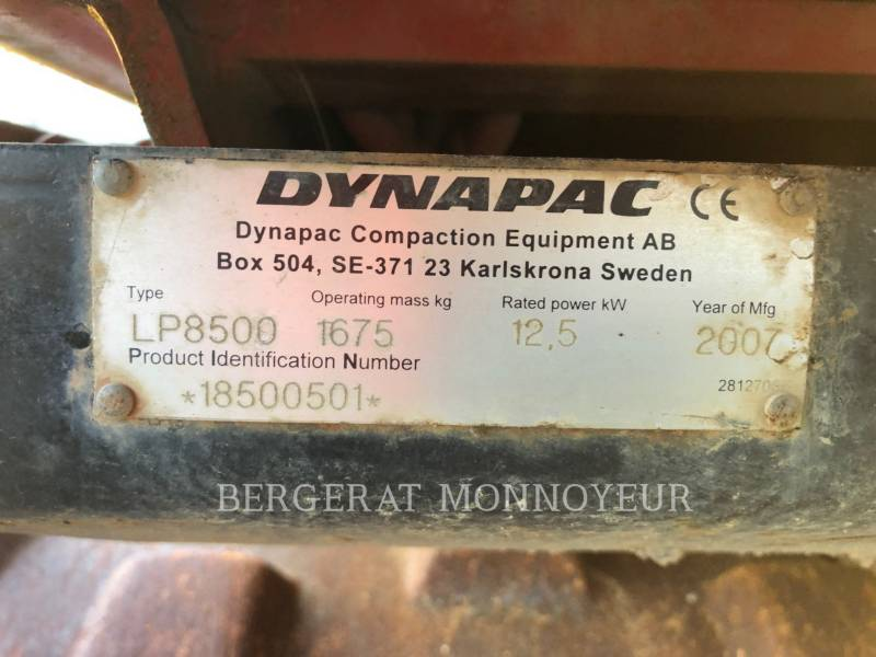 DYNAPAC VERDICHTER LP8500 equipment  photo 6