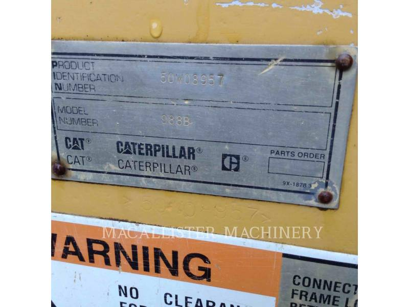 CATERPILLAR WHEEL LOADERS/INTEGRATED TOOLCARRIERS 988B equipment  photo 13