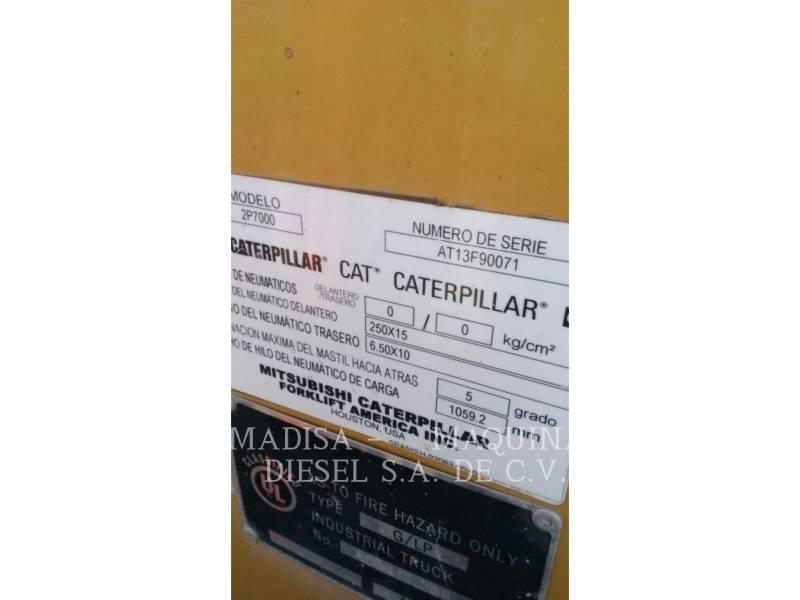 CATERPILLAR LIFT TRUCKS CHARIOTS À FOURCHE 2P7000-GLE equipment  photo 6