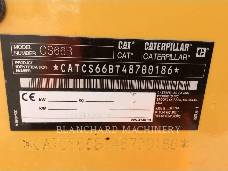 CATERPILLAR EINZELVIBRATIONSWALZE, GLATTBANDAGE CS66B equipment  photo 6