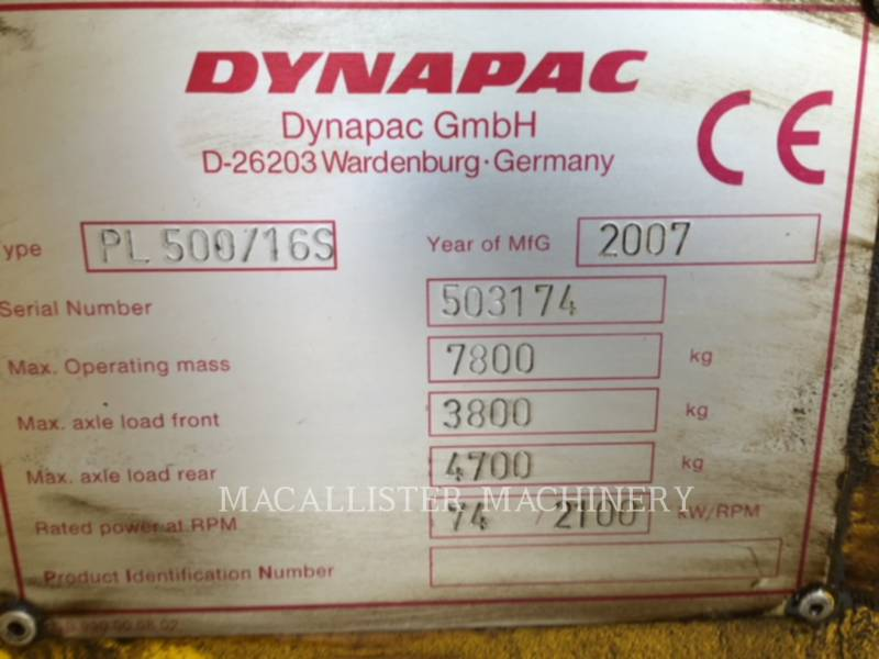 DYNAPAC FREZARKI DO NAWIERZCHNI PL500 equipment  photo 11