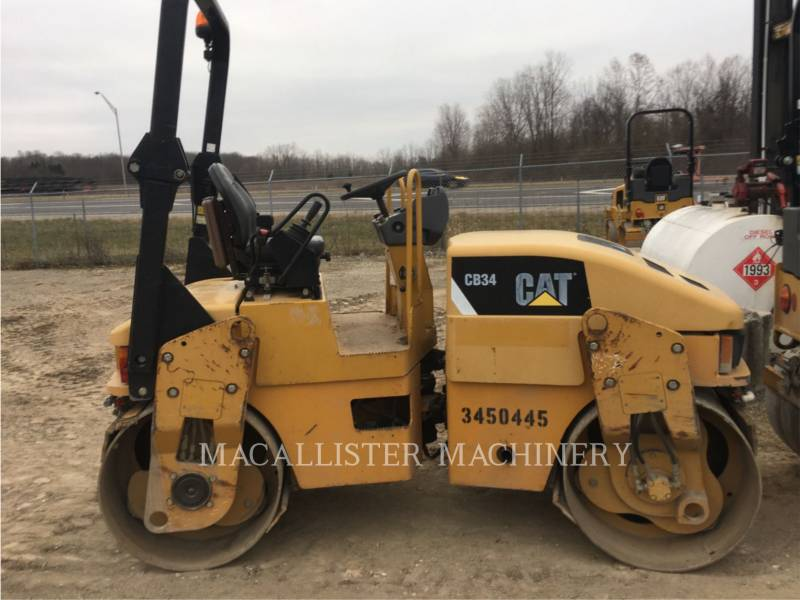 CATERPILLAR TANDEMOWY WALEC WIBRACYJNY DO ASFALTU (STAL-STAL) CB34 equipment  photo 2