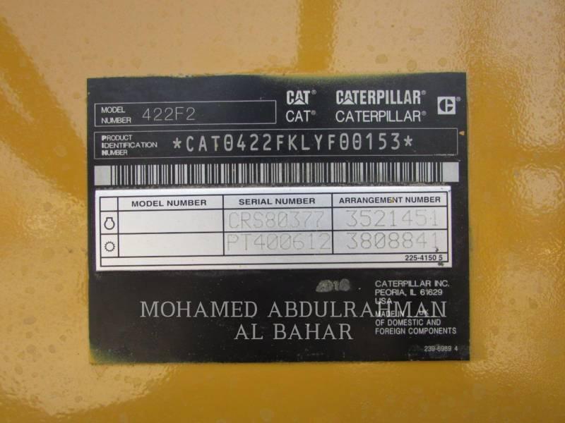 CATERPILLAR BAGGERLADER 422F2STLRC equipment  photo 10