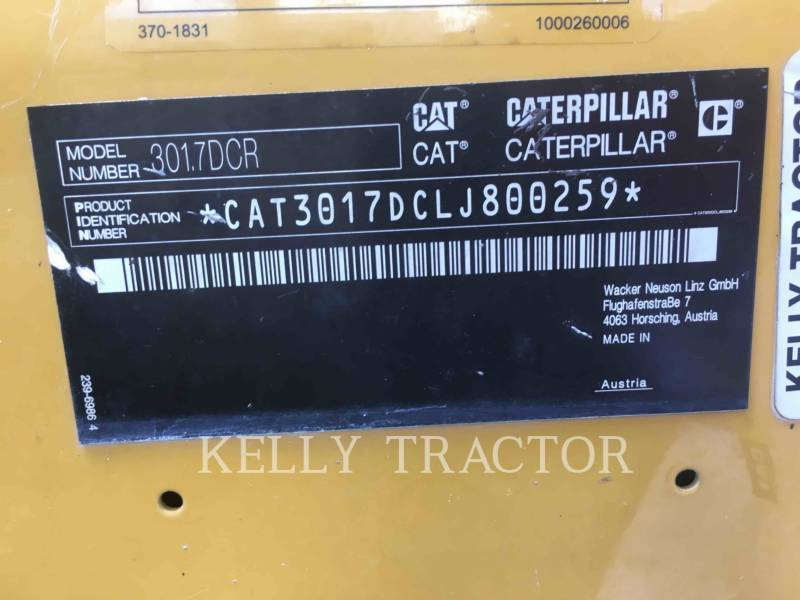 CATERPILLAR TRACK EXCAVATORS 301.7DCR equipment  photo 13