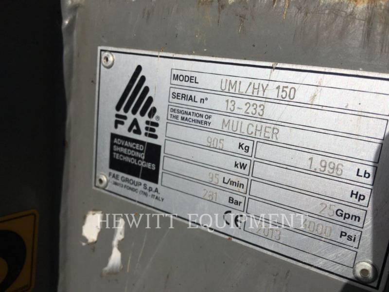 FAE GRINDING EQUIPMENT BRUSH CUTTER, INDUSTRIAL, OTHER UML/HY 150 equipment  photo 4