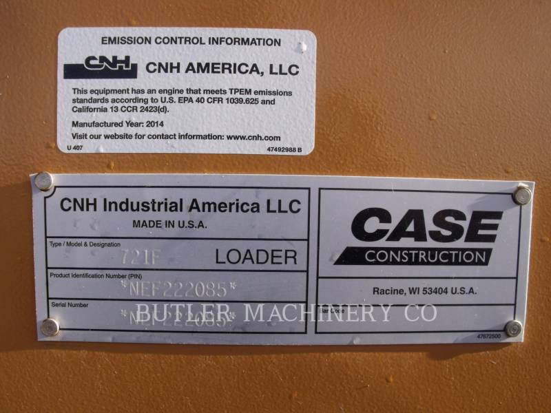 CASE/NEW HOLLAND WHEEL LOADERS/INTEGRATED TOOLCARRIERS 721F equipment  photo 14