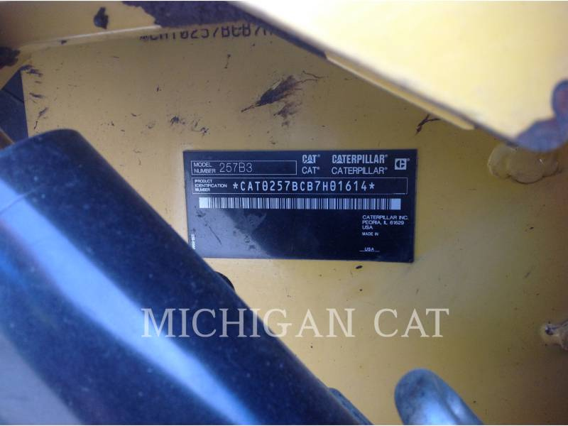 CATERPILLAR CARGADORES MULTITERRENO 257B3 A2Q equipment  photo 18