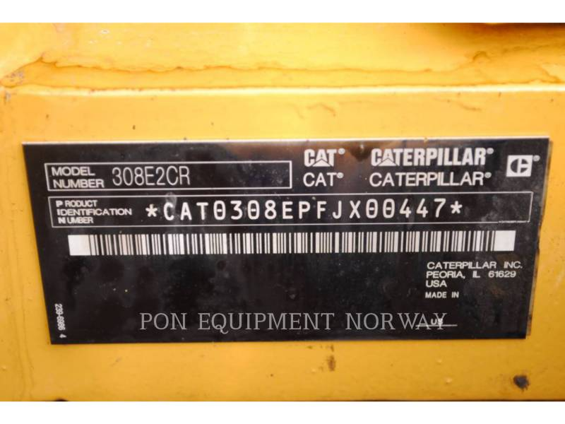 CATERPILLAR PELLES SUR CHAINES 308E equipment  photo 6