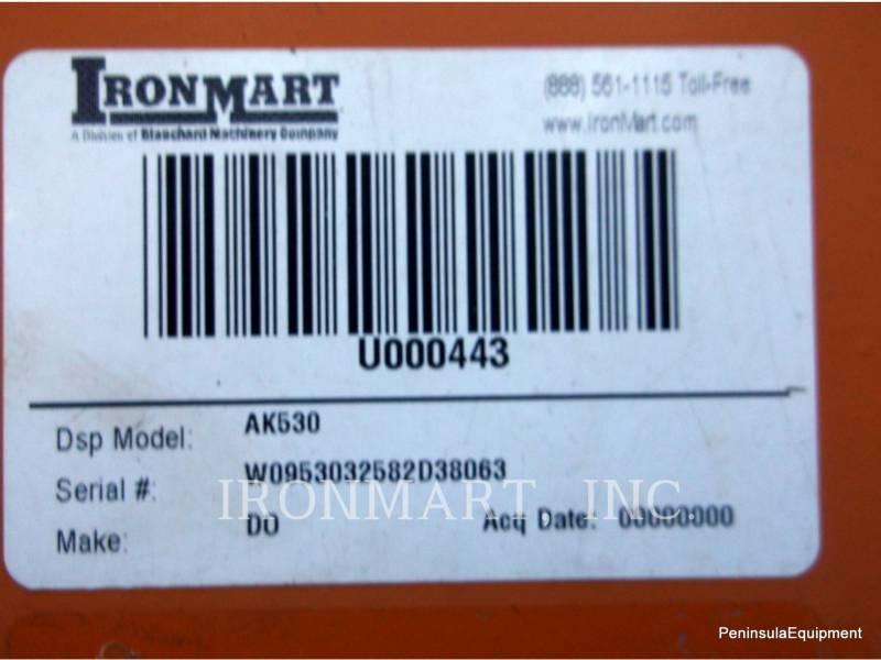 DOPPSTADT HORIZONTAL GRINDER AK530 equipment  photo 14