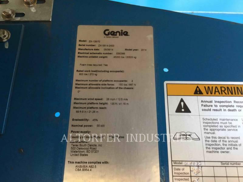 GENIE INDUSTRIES DŹWIG - WYSIĘGNIK ZX135 equipment  photo 2