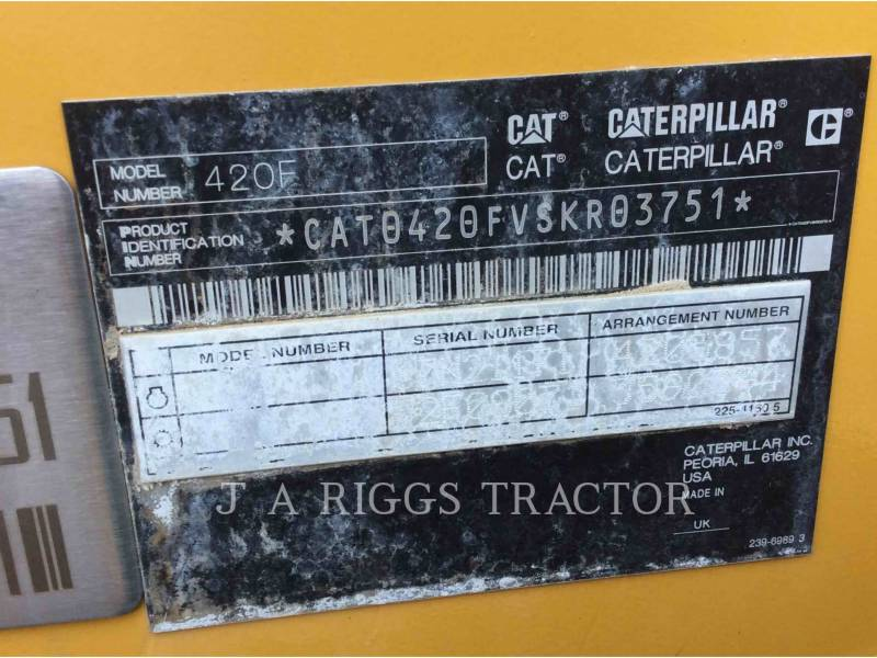 CATERPILLAR CHARGEUSES-PELLETEUSES 420F 4E equipment  photo 9