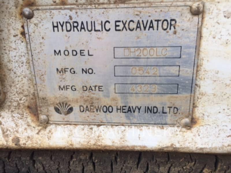 DAEWOO TRACK EXCAVATORS DH200LC equipment  photo 13