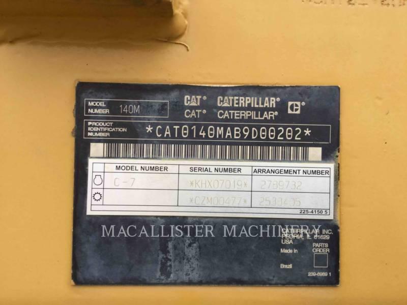 CATERPILLAR NIVELEUSES 140M equipment  photo 7