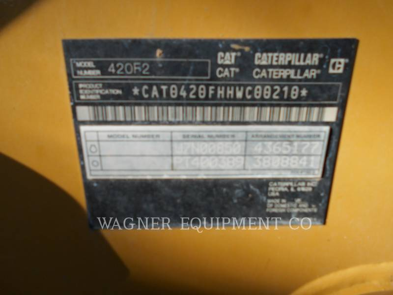 CATERPILLAR RETROESCAVADEIRAS 420F2 4WDE equipment  photo 5