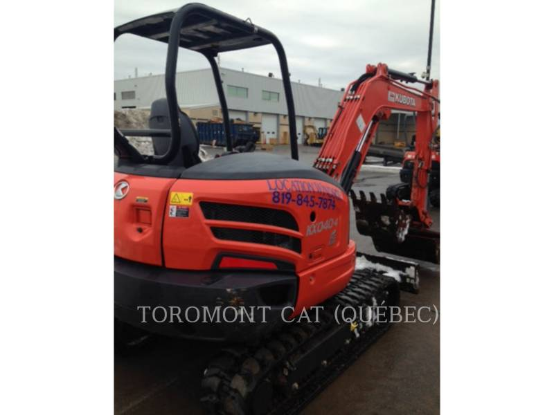 KUBOTA CORPORATION PELLES SUR CHAINES KX040-4 equipment  photo 7
