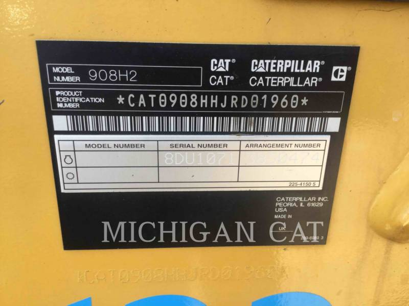 CATERPILLAR WHEEL LOADERS/INTEGRATED TOOLCARRIERS 908H2 equipment  photo 7