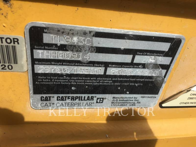 Caterpillar STIVUITOR TELESCOPIC TL943C equipment  photo 17