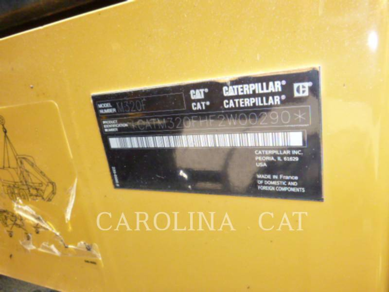 CATERPILLAR WHEEL EXCAVATORS M320F equipment  photo 14