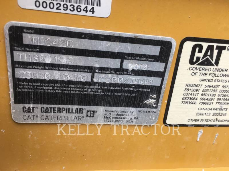 CATERPILLAR TELEHANDLER TL642C equipment  photo 17