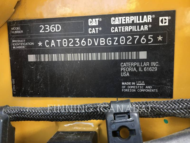 CATERPILLAR PALE COMPATTE SKID STEER 236D equipment  photo 6