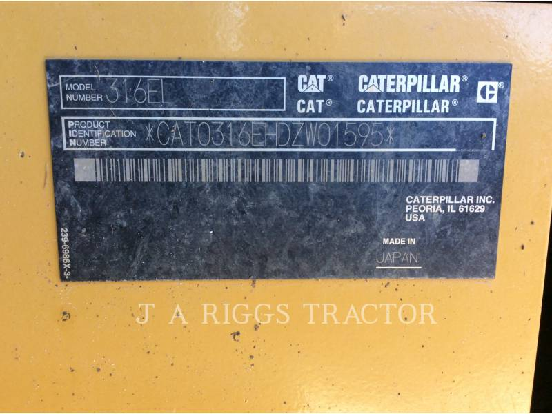 CATERPILLAR EXCAVADORAS DE CADENAS 316E 10 equipment  photo 9
