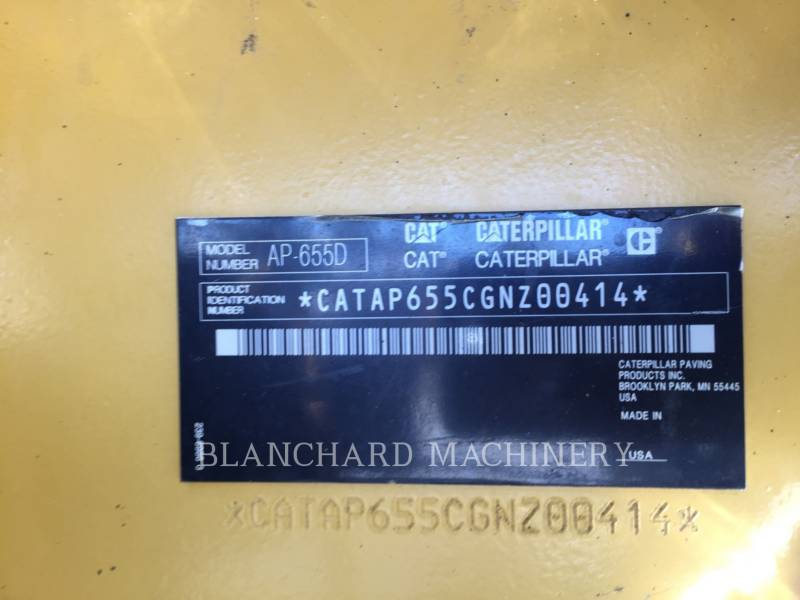 CATERPILLAR ASPHALTVERTEILER AP655D equipment  photo 13