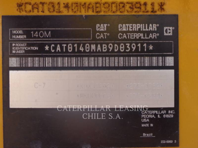 CATERPILLAR MOTONIVELADORAS PARA MINERÍA 140M equipment  photo 8