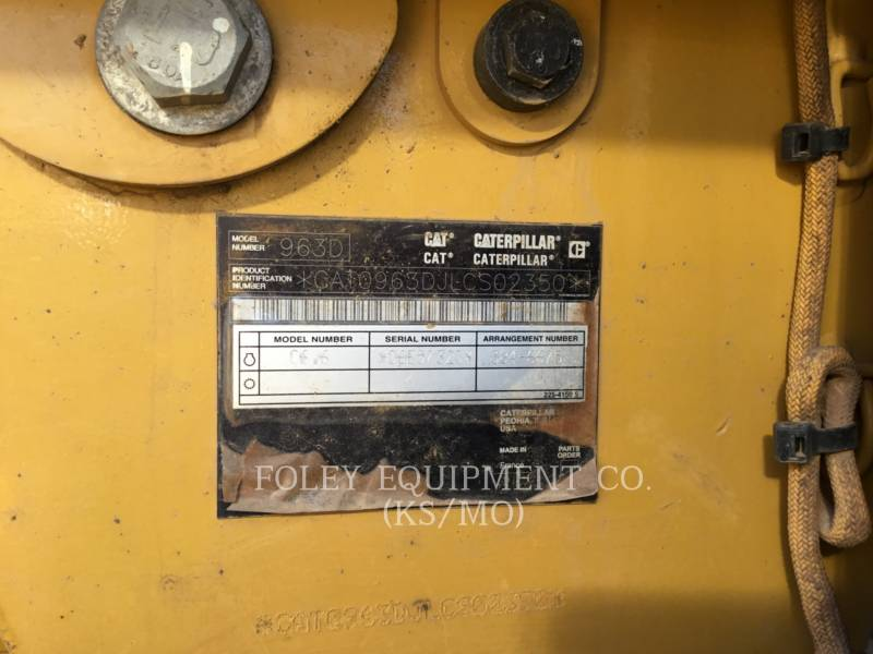 CATERPILLAR CHARGEURS SUR CHAINES 963D equipment  photo 6