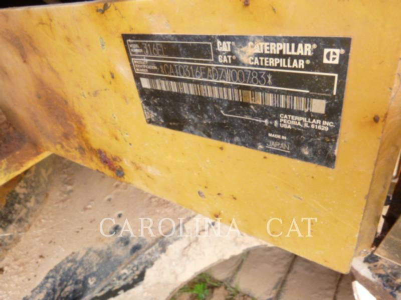 CATERPILLAR EXCAVADORAS DE CADENAS 316E TH equipment  photo 7