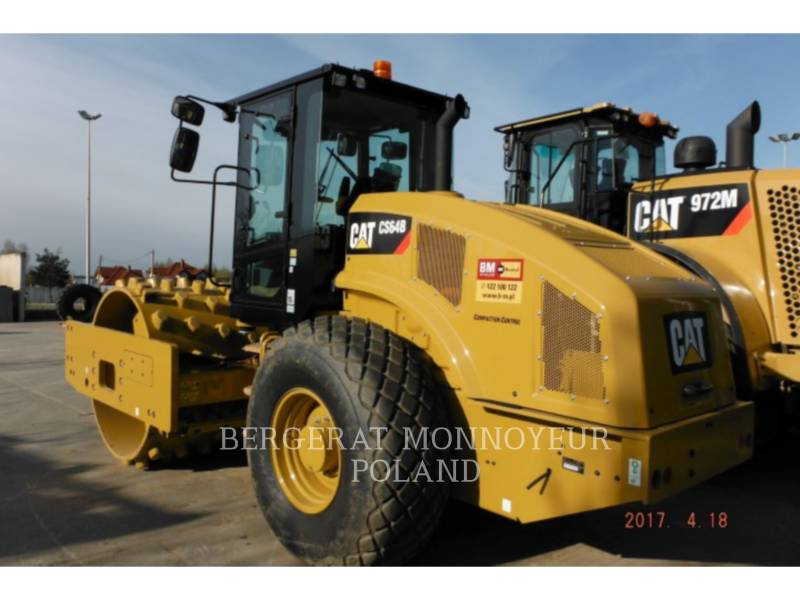 CATERPILLAR VIBRATORY SINGLE DRUM SMOOTH CS64B equipment  photo 2