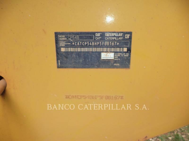 CATERPILLAR VIBRATORY SINGLE DRUM PAD CP54B equipment  photo 9