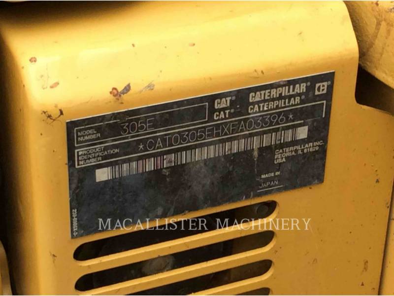 CATERPILLAR PELLES SUR CHAINES 305ECR equipment  photo 5