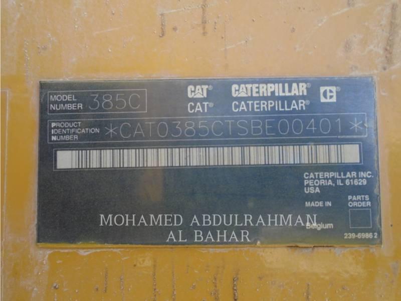 CATERPILLAR TRACK EXCAVATORS 385 C L (ME) equipment  photo 14