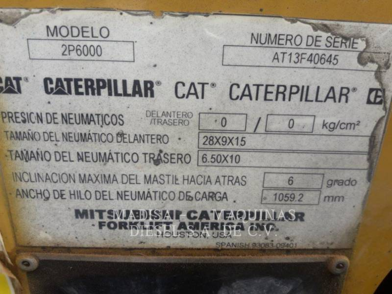 CATERPILLAR MITSUBISHI FORKLIFTS 2P60004-GL equipment  photo 6