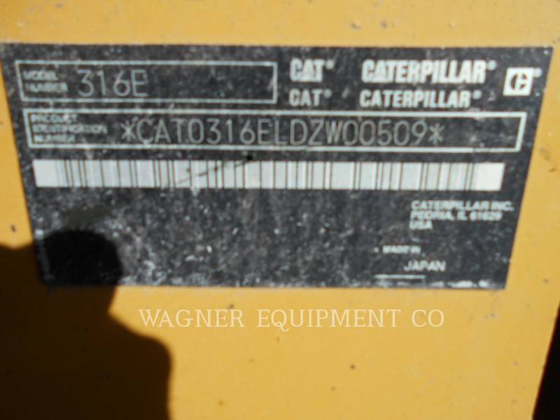 CATERPILLAR TRACK EXCAVATORS 316EL HMR equipment  photo 5