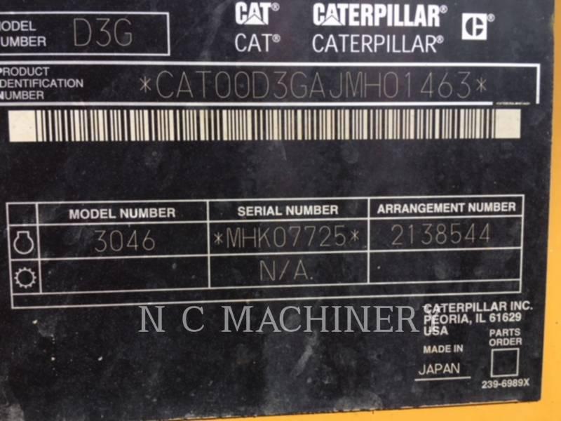 CATERPILLAR TRACK TYPE TRACTORS D3G XL equipment  photo 9