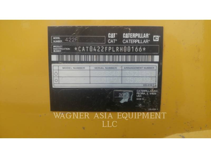 CATERPILLAR CHARGEUSES-PELLETEUSES 422F equipment  photo 8