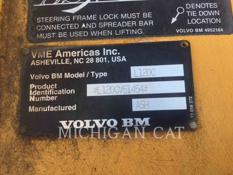 VOLVO CONSTRUCTION EQUIPMENT WHEEL LOADERS/INTEGRATED TOOLCARRIERS L120 equipment  photo 24
