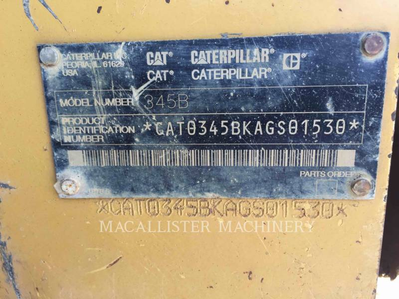 CATERPILLAR TRACK EXCAVATORS 345BIIL equipment  photo 13