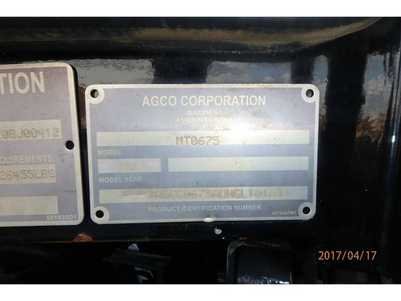 AGCO-CHALLENGER TRACTORES AGRÍCOLAS MT675D equipment  photo 17
