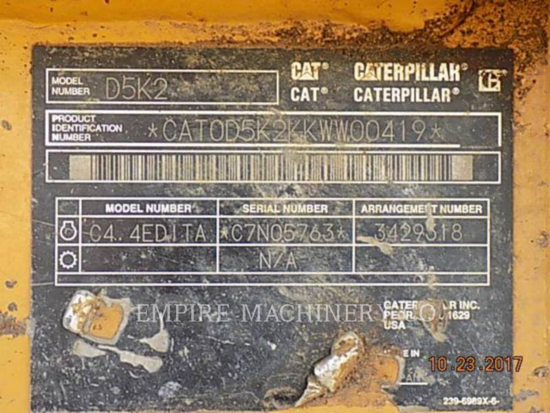 CATERPILLAR TRACK TYPE TRACTORS D5K2 XL equipment  photo 11