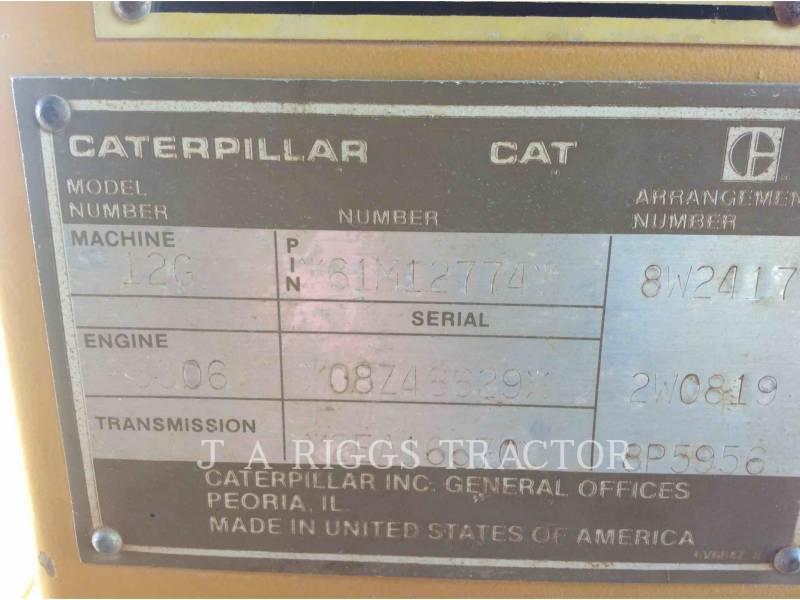 CATERPILLAR NIVELEUSES 12G equipment  photo 18