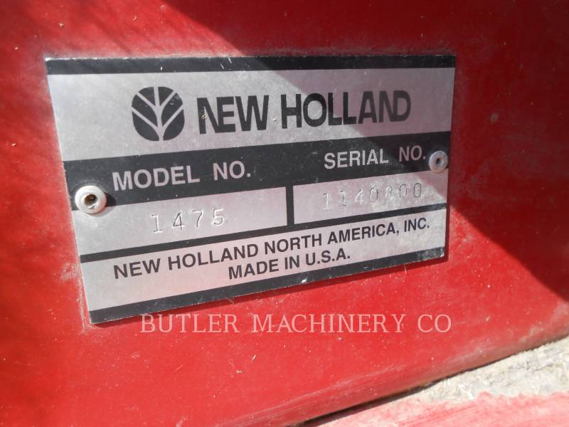 FORD / NEW HOLLAND AG HAY EQUIPMENT 1475 equipment  photo 17