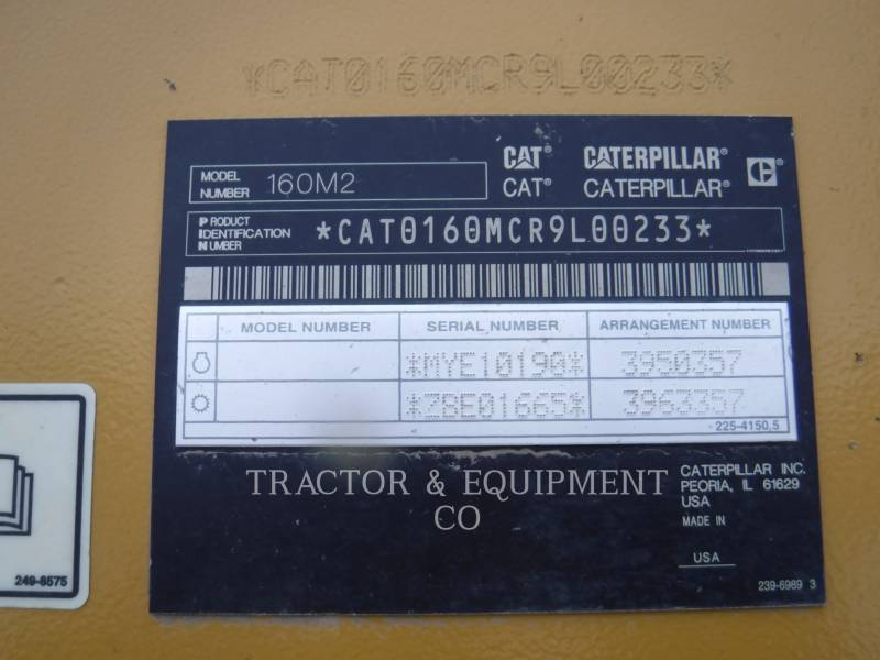 CATERPILLAR MOTONIVELADORAS 160M2 equipment  photo 2